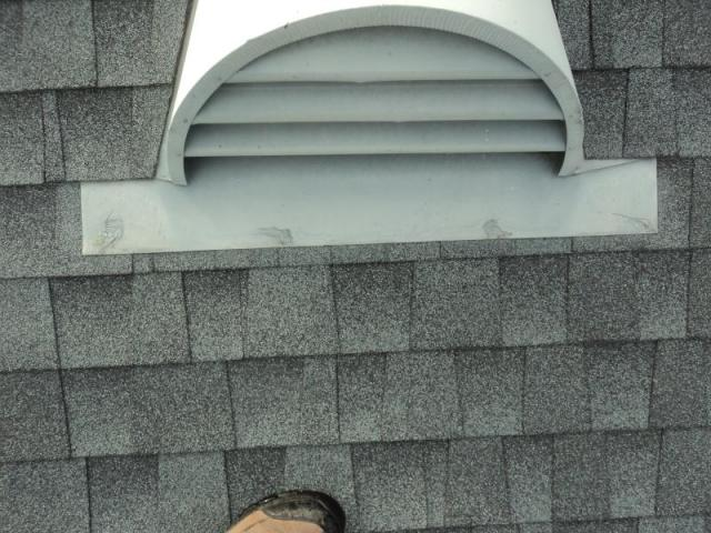 Metal flashing as found on the roof during a Reseda home inspection