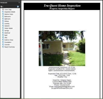 Sample Granada Hills Home Inspection Inspection Report